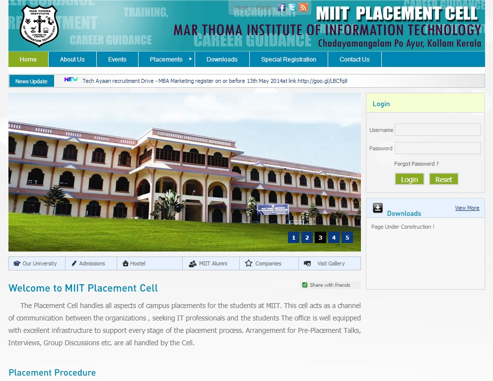 MIIT Placement Cell