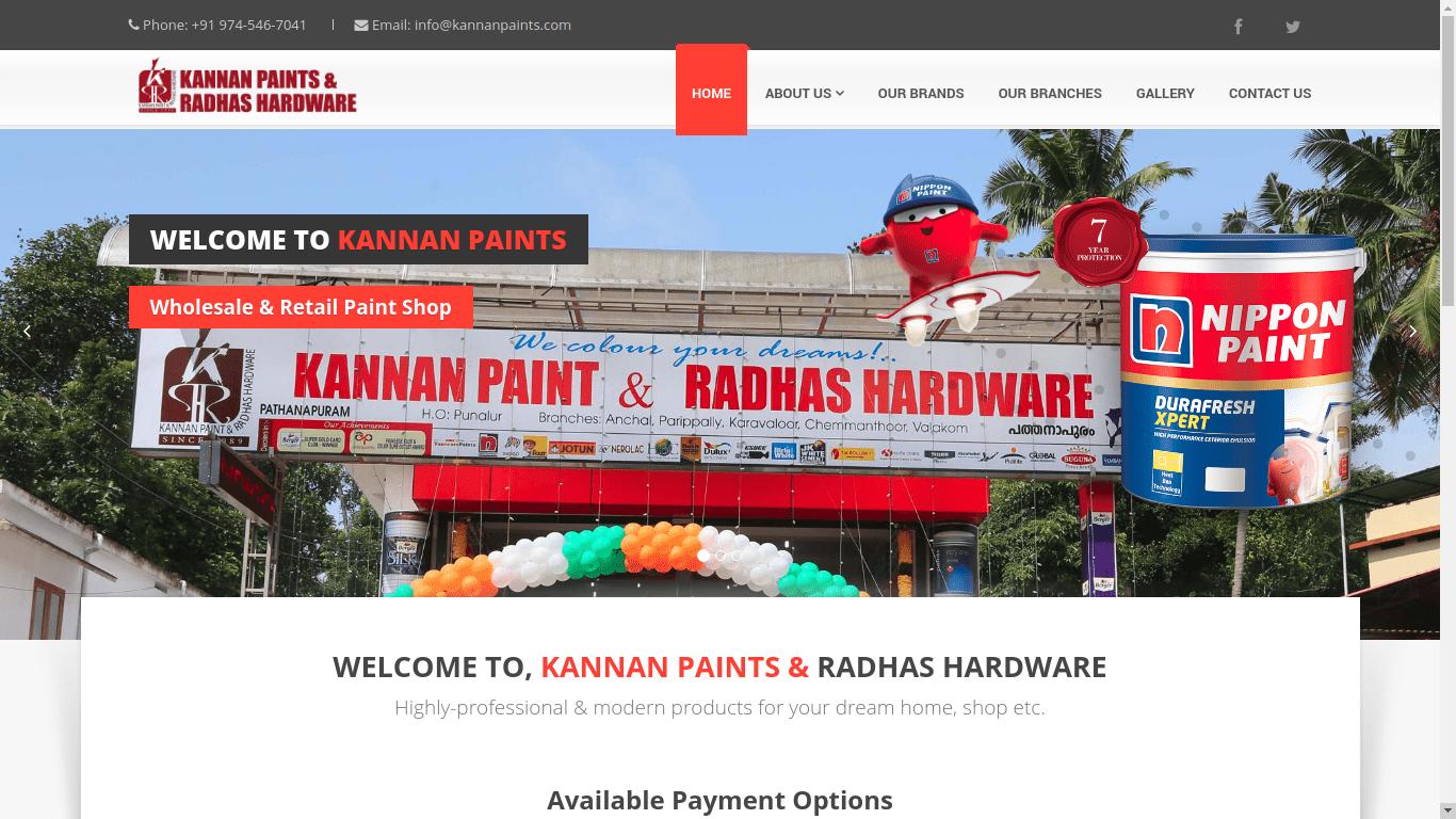 Kannan Paints Website